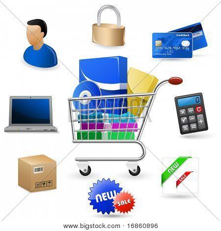 Web icons set - Software Shop