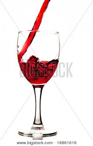 Red wine and wineglass