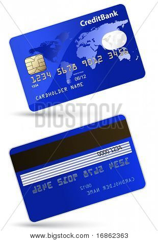 Highly detailed vector illustration of credit card