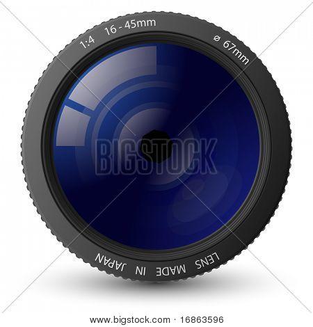Ilustración del vector de la lente de la cámara