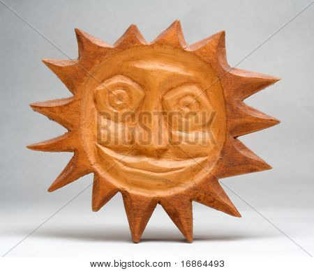 Wooden sun - Slavonic idol unauthorized art - folklore