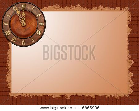 Clock background - At the eleventh hour