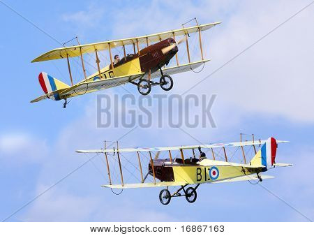 Two historic plane Curtiss JN-4