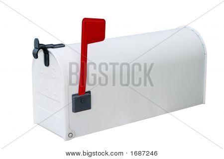 Caixa de correio branca