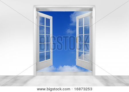 Door to sky - conceptual image - business metaphor