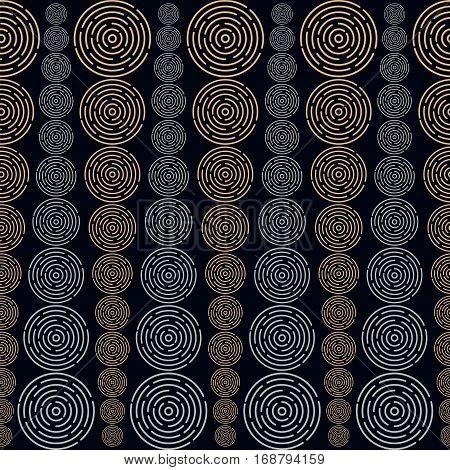 Circles Sized Seamless Pattern