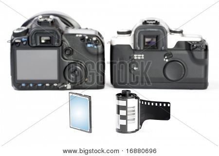The Cameras. Picture of evolution in photographic technology.