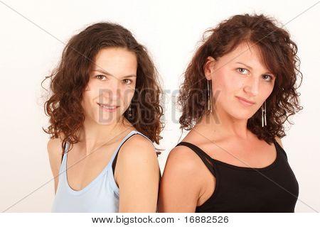 Happy pretty women close up