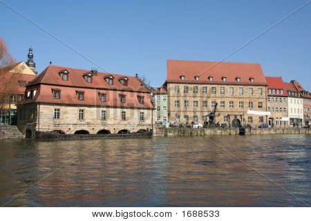 Houses at Little Venice in Bamberg (Germany)