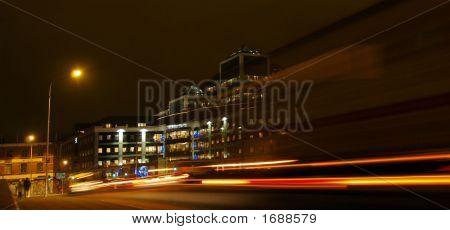 Dublin Traffic By Night