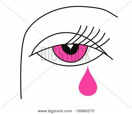 vector drawing of the eye of the woman