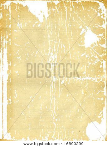 vector texture of the old sheet of the yellow paper