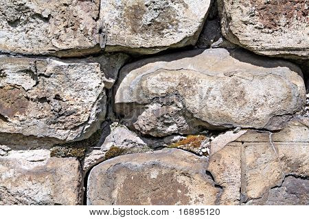 aging stone wall