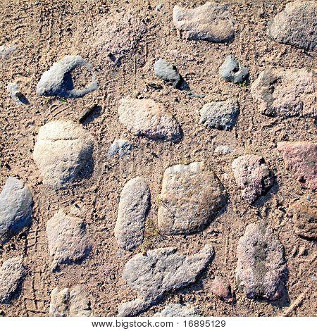 aging paving stone