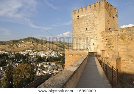 Alcazaba Walls And Towers