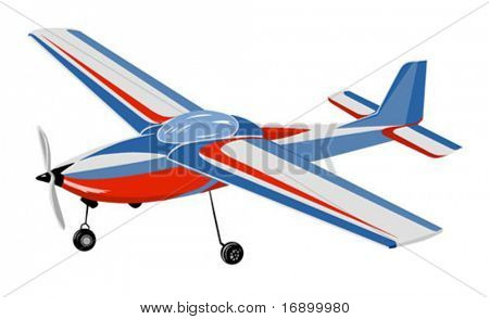vector silhouette of the plane on white background