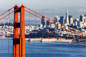 San Francisco With The Golden Gate Bridge poster