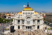 Palacio de Bellas Artes or Palace of Fine Arts at the historic center of Mexico City poster