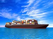 pic of container ship  - Large container ship - JPG