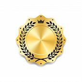 Seal Award Gold Icon Blank Medal poster