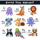 Cartoon Animals Alphabet poster