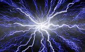 image of lightning bolt  - Dramatic futuristic - JPG