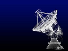 image of telecommunications equipment  - Satellite dish - JPG