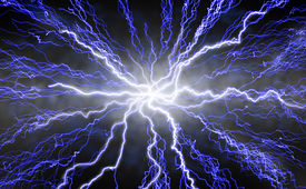 picture of lightning bolt  - Dramatic futuristic - JPG