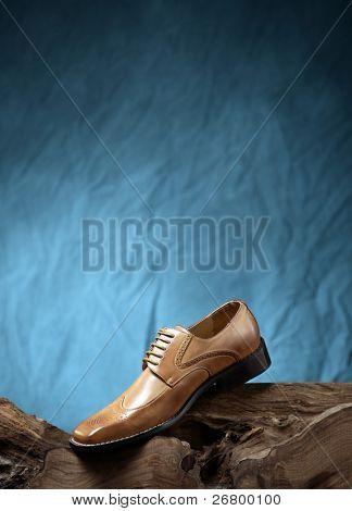 close up shot of a man shoe