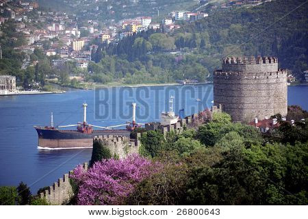 an image of Rumeli Castle in Istanbul,Turkey
