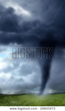 A background image of a tornado in USA