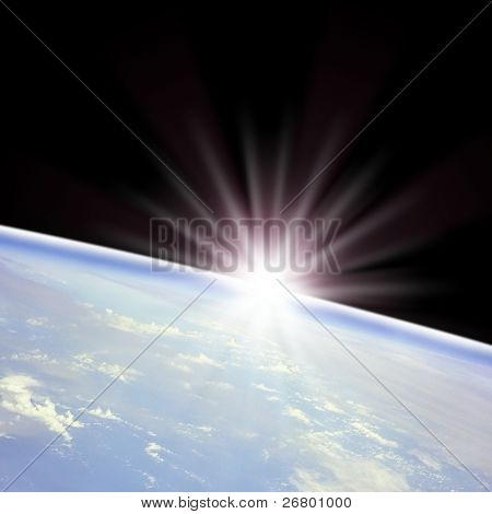 Digitally Generated Image of an earth in space