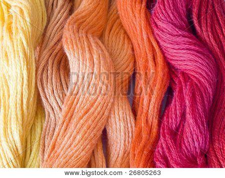 hilos de color