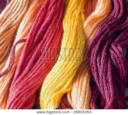 warm color yarns