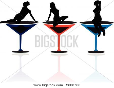 Girls In Martini Glasses