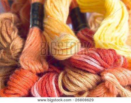 colorful yarns background
