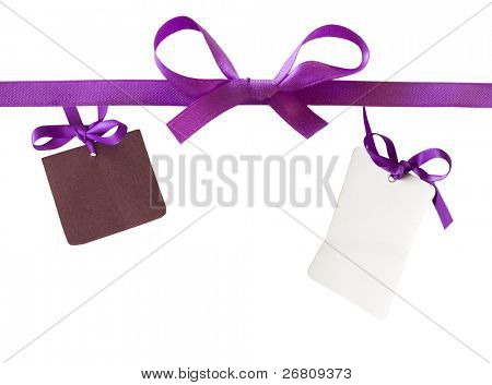 bow with two gift notes