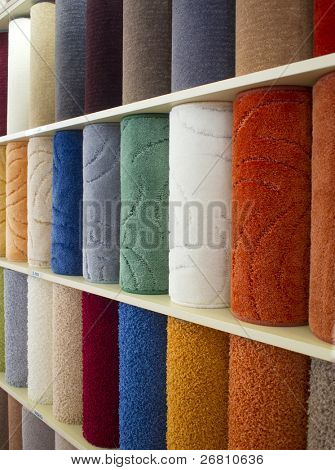 carpets in different colors