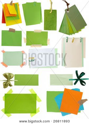 green notes and tags collection