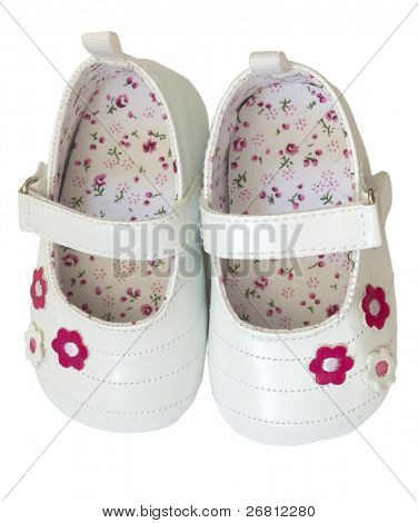 baby girl's shoes isolated