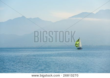 Sailboat Annecy Lake French Alps