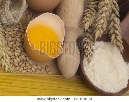 basic ingredients for the baking