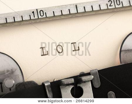 LOL on the typewriter
