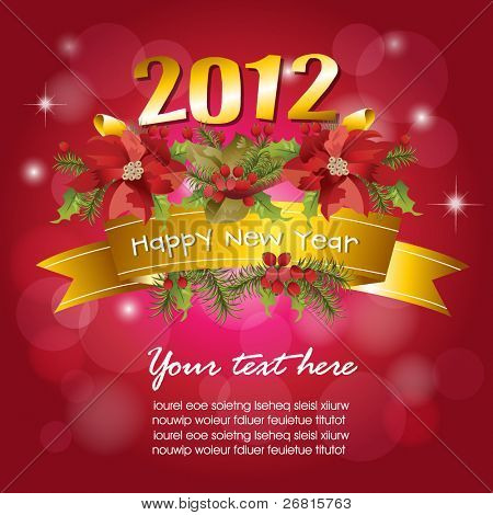 2012 New Year celebration background