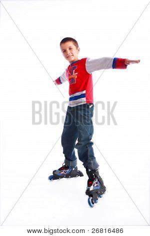 Boy On Rollerskates
