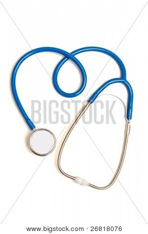 Stethoscope in the form of a heart sign