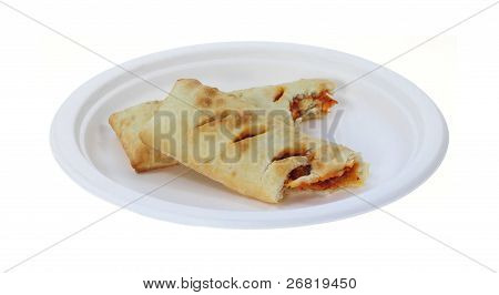 Bite Pair Pepperoni Pizza Turnovers Stacked