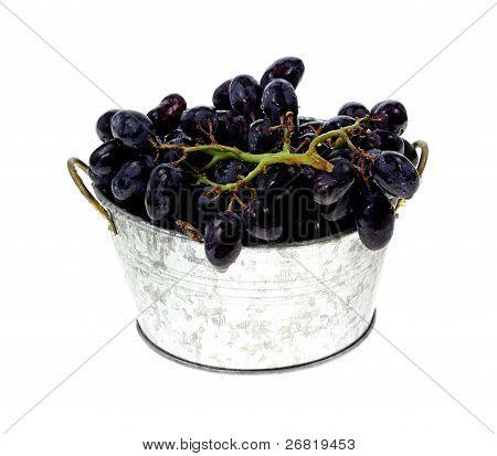 Rinsed Black Grapes
