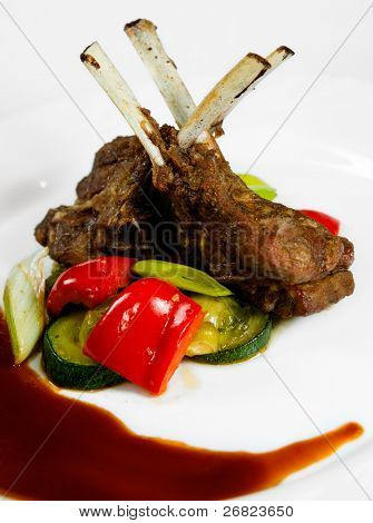 lamb with vegetables