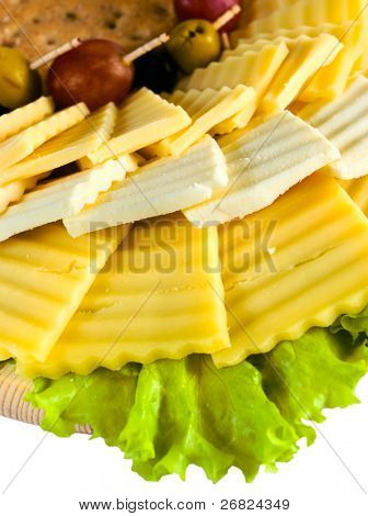 Cheese in assortment